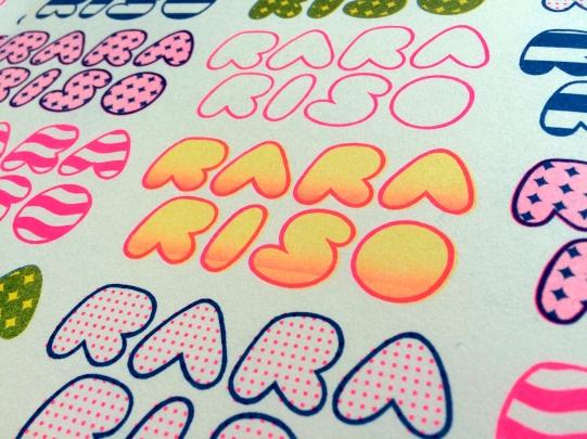 RARARISO logo design, Riso print 2018