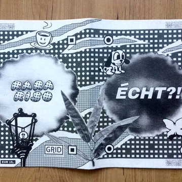 "Cover deisgn for ""ÉCHT?!"" zine, 2018"