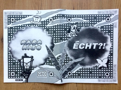 """Cover deisgn for """"ÉCHT?!"""" zine, 2018"""