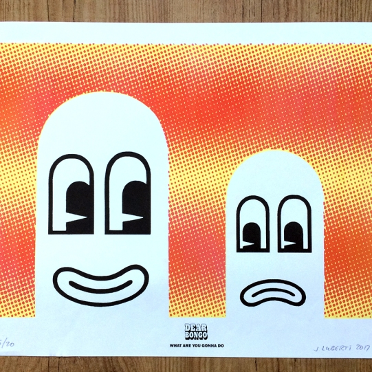 Dear Bongo 'What Are You Gonna Do' A3 Riso poster + EP download, 2017